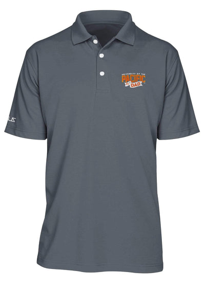 University of the Pacific Tigers Pacific #1 Dad Performance Polo Shirt by Zeus Collegiate