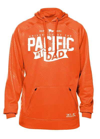 University of the Pacific Tigers Pacific #1 Dad Poly Fleece Hood by Zeus Collegiate
