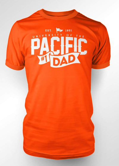 University of the Pacific Tigers Pacific #1 Dad T-shirt by Zeus Collegiate
