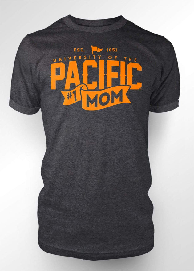 University of the Pacific Tigers Pacific #1 Mom T-shirt by Zeus Collegiate