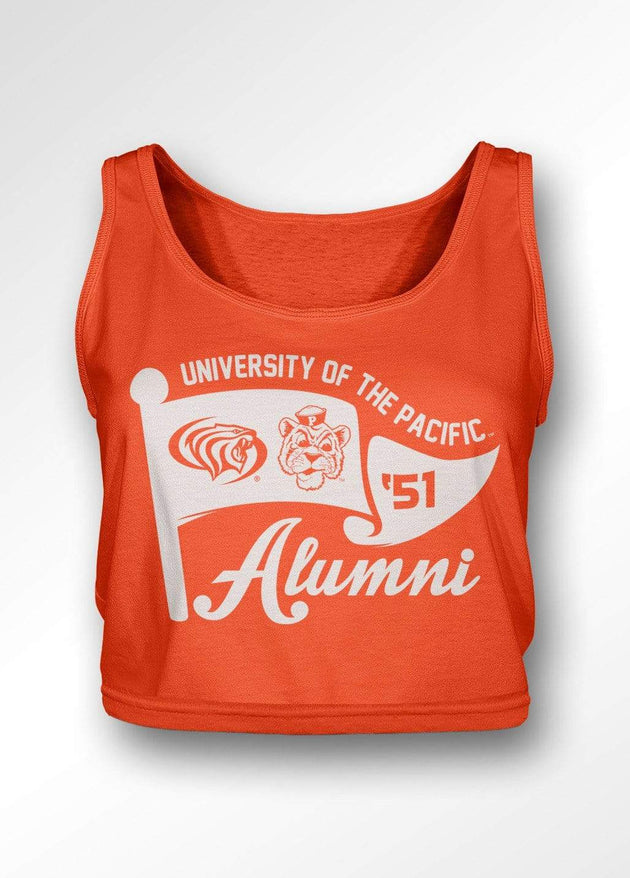 University of the Pacific Tigers Pacific Alumni Series: Flag Waver Boxy Tank Top by Zeus Collegiate