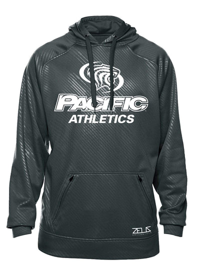 University of the Pacific Tigers Pacific Athletics Division I Poly Fleece Hood by Zeus Collegiate