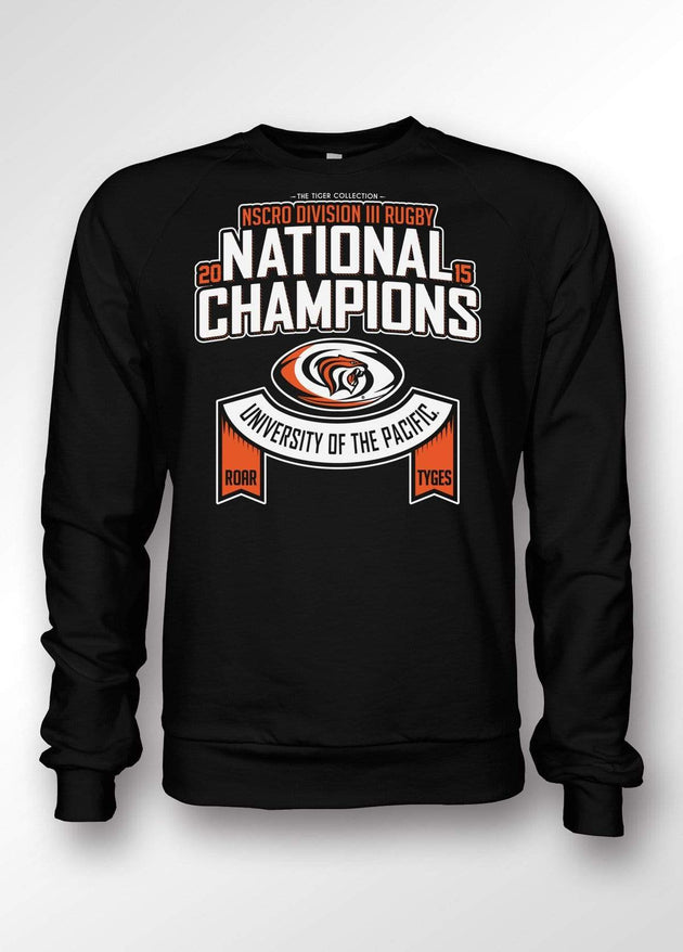 University of the Pacific Tigers Rugby National Champions 2015 Sweatshirt by Zeus Collegiate