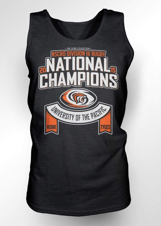 University of the Pacific Tigers Rugby National Champions 2015 Tank Top by Zeus Collegiate