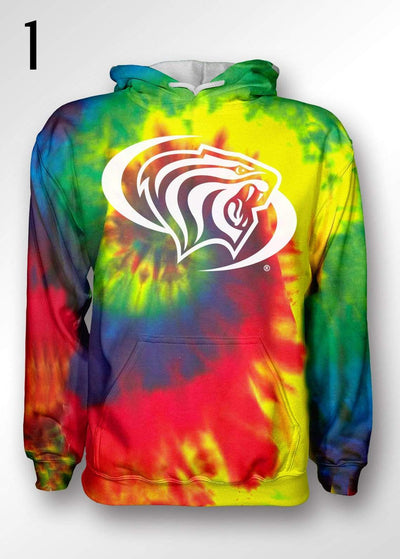 University of the Pacific Tigers Pacific Tie Dye Hooded Sweatshirts by Zeus Collegiate