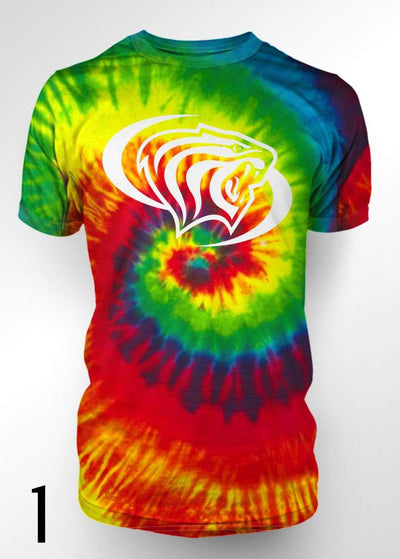 University of the Pacific Tigers Pacific Tie Dye T-shirts by Zeus Collegiate