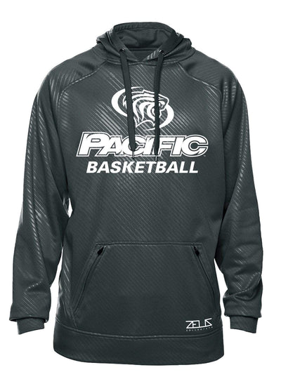 University of the Pacific Tigers Basketball Division I Poly Fleece Hood by Zeus Collegiate
