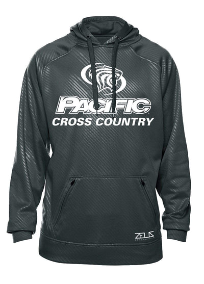 University of the Pacific Tigers Cross Country Division I Poly Fleece Hood by Zeus Collegiate