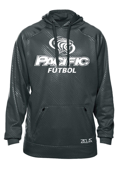 University of the Pacific Tigers Futbol (Soccer) Division I Poly Fleece Hood by Zeus Collegiate