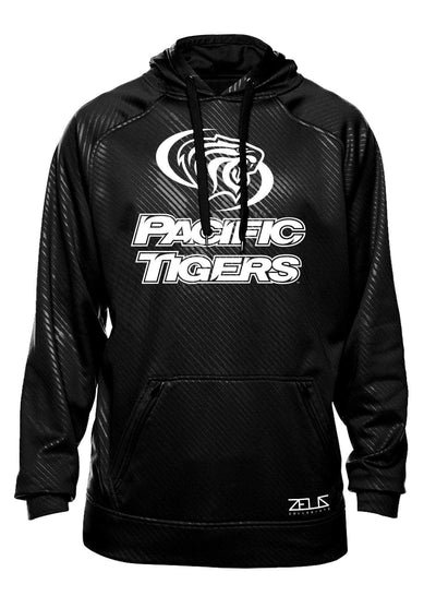 University of the Pacific Tigers Logo Poly Fleece Hood by Zeus Collegiate