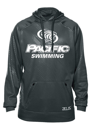 University of the Pacific Tigers Swimming Division I Poly Fleece Hood by Zeus Collegiate