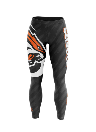 University of the Pacific Tigers Undefeated Leggings by Zeus Collegiate