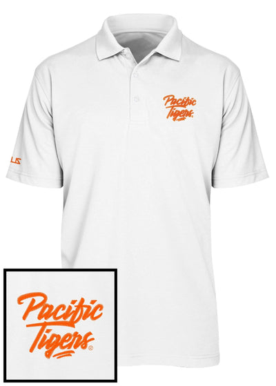 University of the Pacific Tigers Pacific Tigers Upper Echelon Performance Polo Shirt by Zeus Collegiate