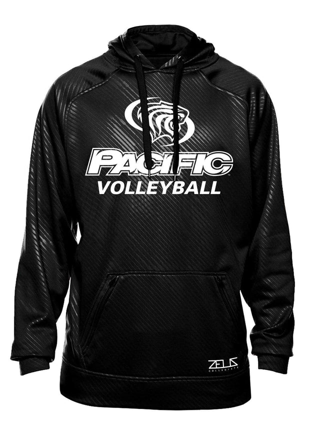 University of the Pacific Tigers Volleyball Division I Poly Fleece Hood by Zeus Collegiate