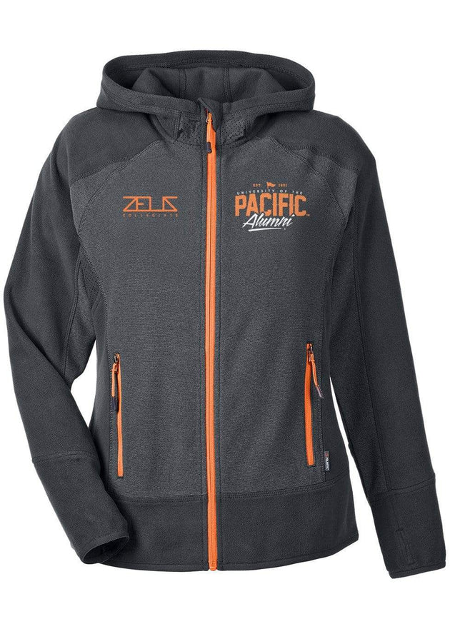University of the Pacific Tigers Performance Fleece Hooded Jacket by Zeus Collegiate
