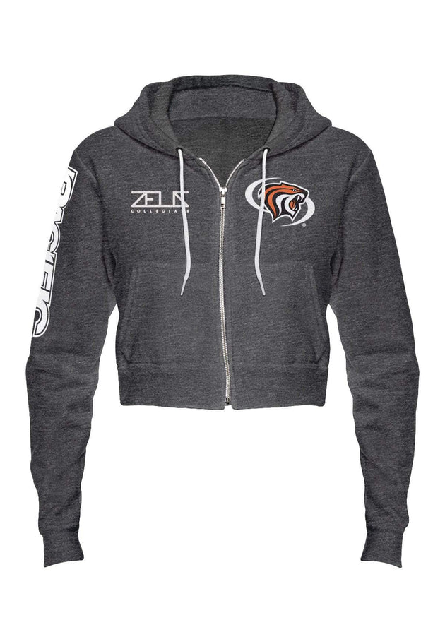 University of the Pacific Tigers Powercat Envy Cropped Fleece Zip Hood by Zeus Collegiate