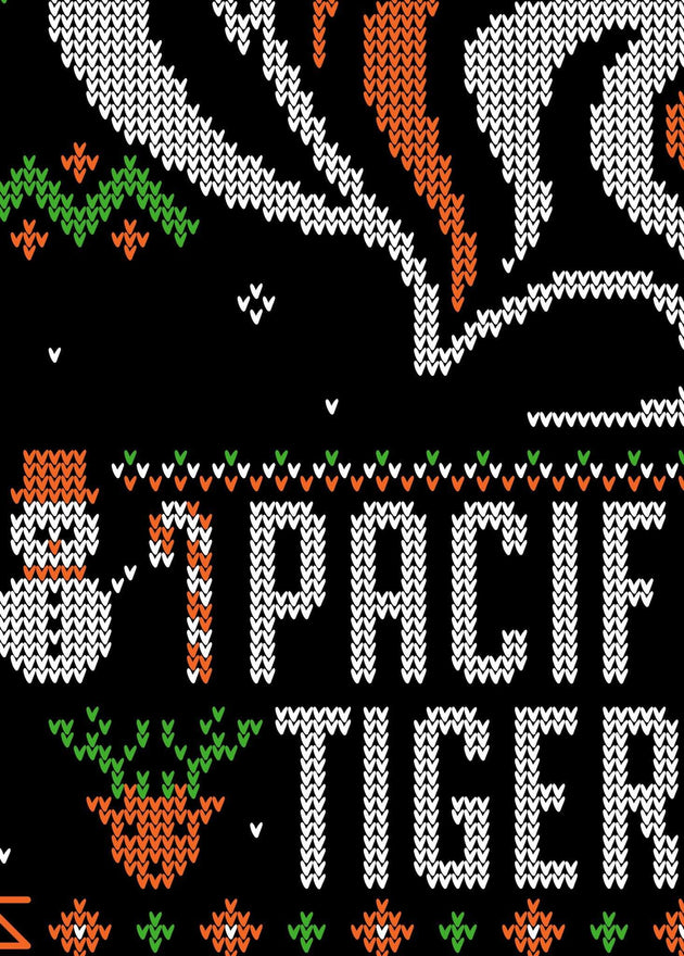 University of the Pacific Tigers Ugly Sweater: Powercat T-shirt by Zeus Collegiate