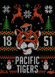 University of the Pacific Tigers Ugly Sweater: Tommy Sweatshirt by Zeus Collegiate