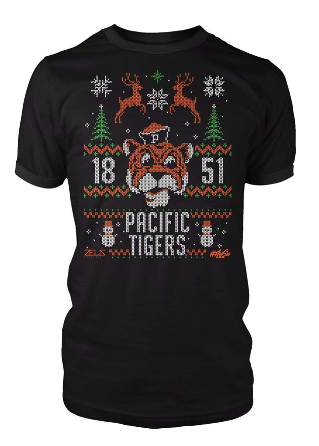 University of the Pacific Tigers Ugly Sweater: Tommy T-shirt by Zeus Collegiate