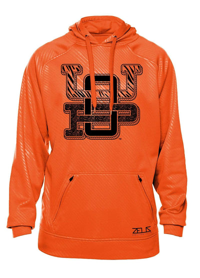 University of the Pacific Tigers UOP Monogram Poly Fleece Hood by Zeus Collegiate