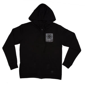 MAVERIK ZIP-UP HOODIE - BLACK