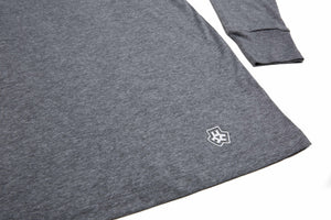NOMAD T-SHIRT WEIGHT HOODIE - HEATHER GREY