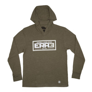 SUPREME HOODED LONG SLEEVE - MILITARY GREEN