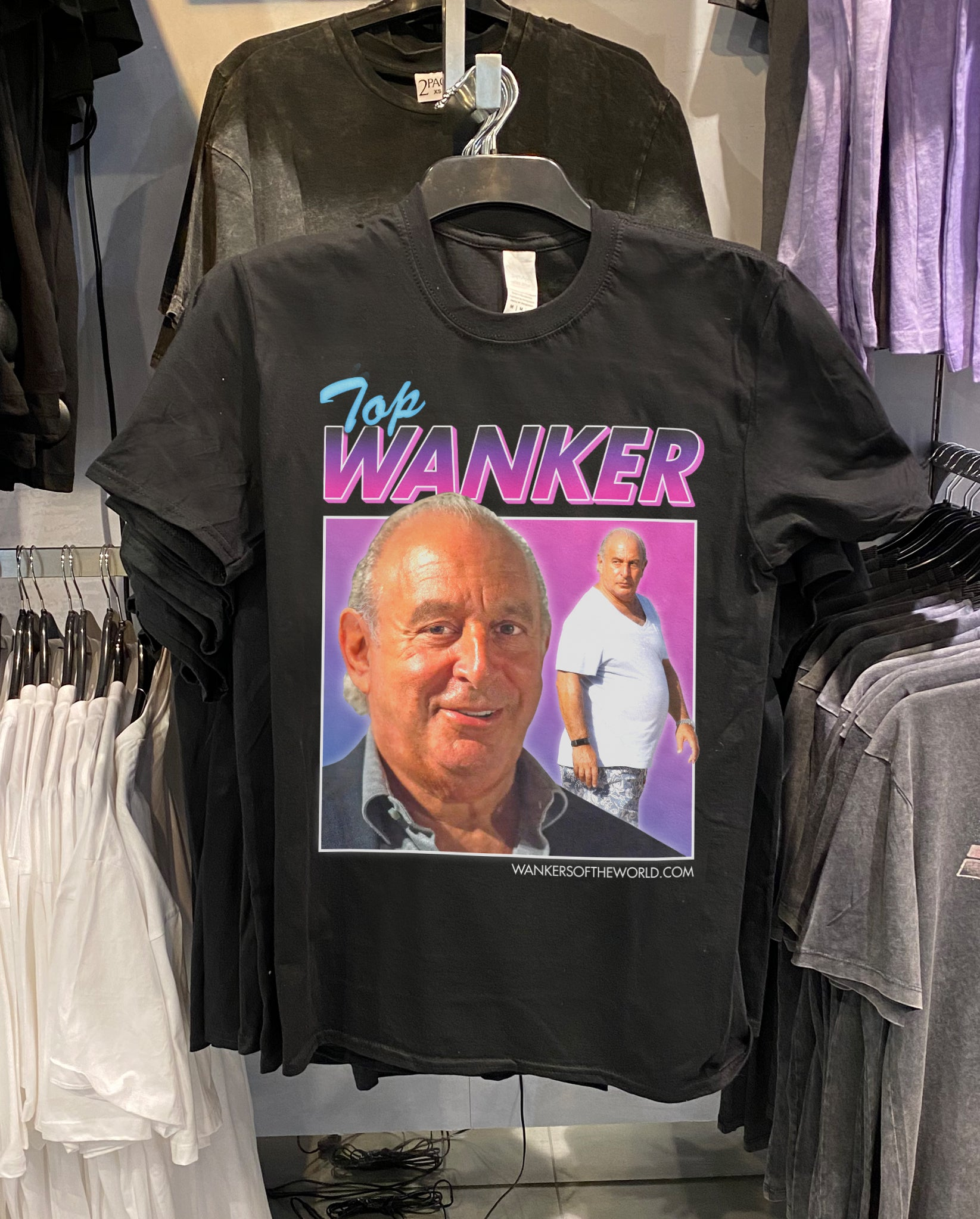 Philip Green, Top Wanker Tee