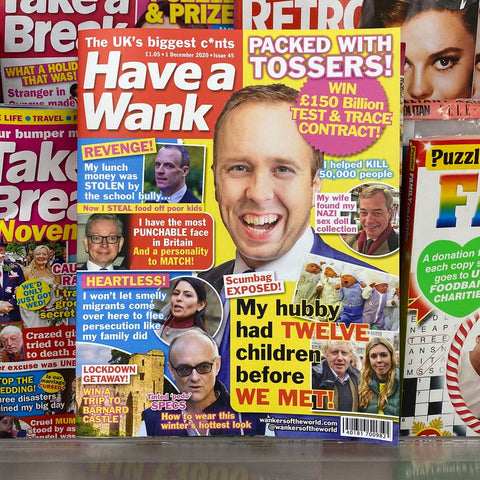 'Have a Wank' magazine wraparound