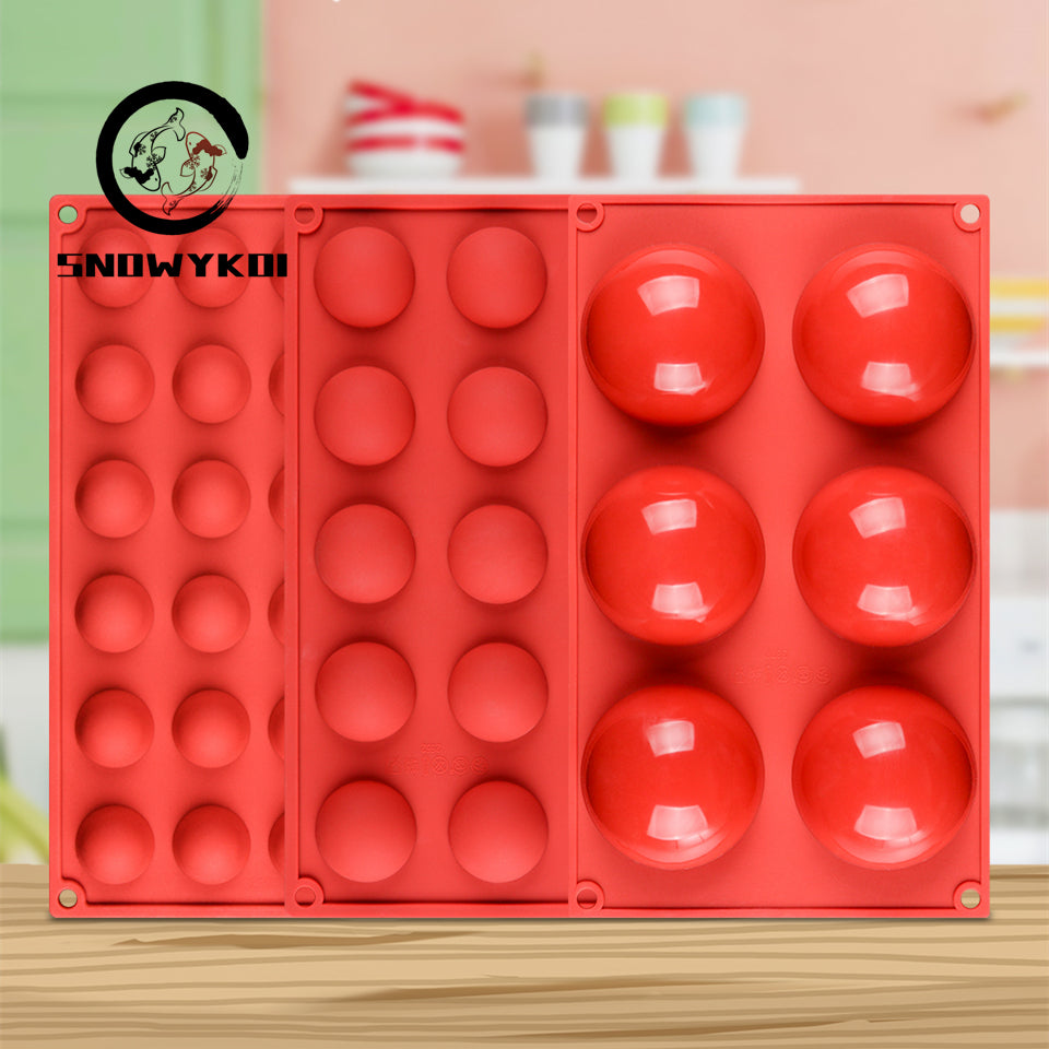 Semi Sphere Silicone Mold Set - 3PCS