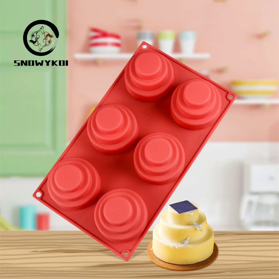 Silicone Mold - 3D Round Cake