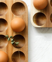 Load image into Gallery viewer, Japanese style Wooden Egg Storage Box Set of 3