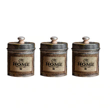 Load image into Gallery viewer, Vintage Kitchen Storage Tank Set of 3