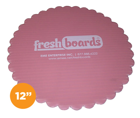 12 inches, Scalloped Edge Cake Board