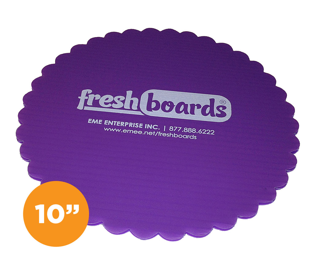 10 inches, Scalloped Edge Cake Board
