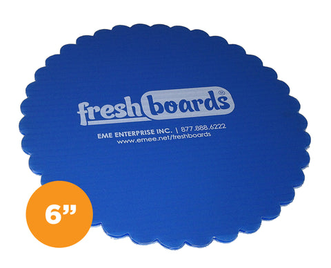6 inches, Scalloped Edge Cake Board