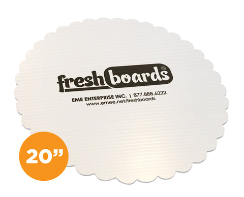 20 inches, Scalloped Edge Cake Board (Case Only)