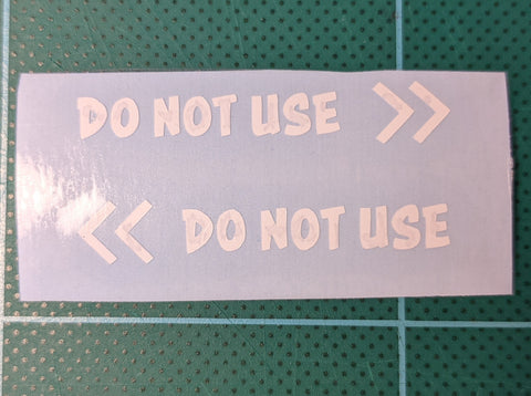 Do not use Sticker