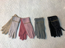Load image into Gallery viewer, Stitched, Chained Gloves- four color options