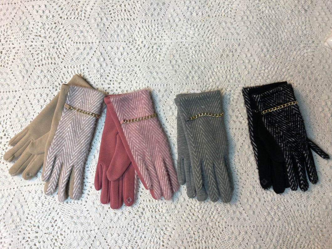 Stitched, Chained Gloves- four color options