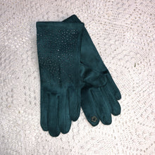 Load image into Gallery viewer, Scattered Rhinestone, Suede Gloves- six color options