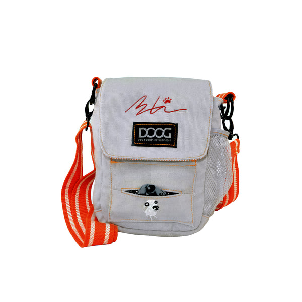 Limited Edition Sara Carson Walkie Bag -  Grey & Orange