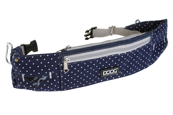 DOOG Walkie Belt - STELLA (navy and white spots)