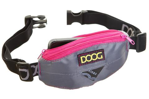 DOOG Mini Belt- Grey & Neon Pink
