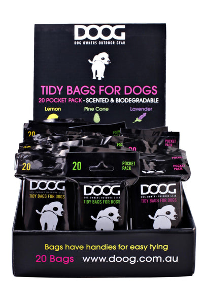 Tidy Bags -  30 packs of 20 pick up bags (600 total)