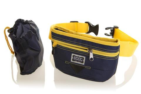 Good Dog Treat Pouch - Navy & Yellow