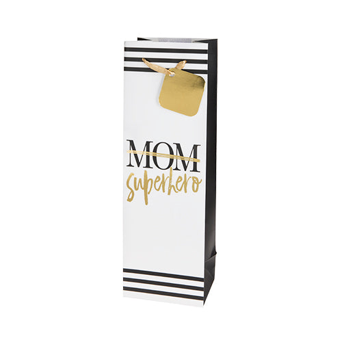 Superhero Mom Single-Bottle Wine Bag by Cakewalk