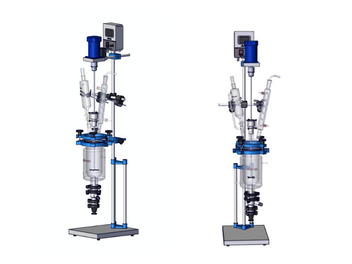 Jacketed Glass Reactors 1.0-5.0L