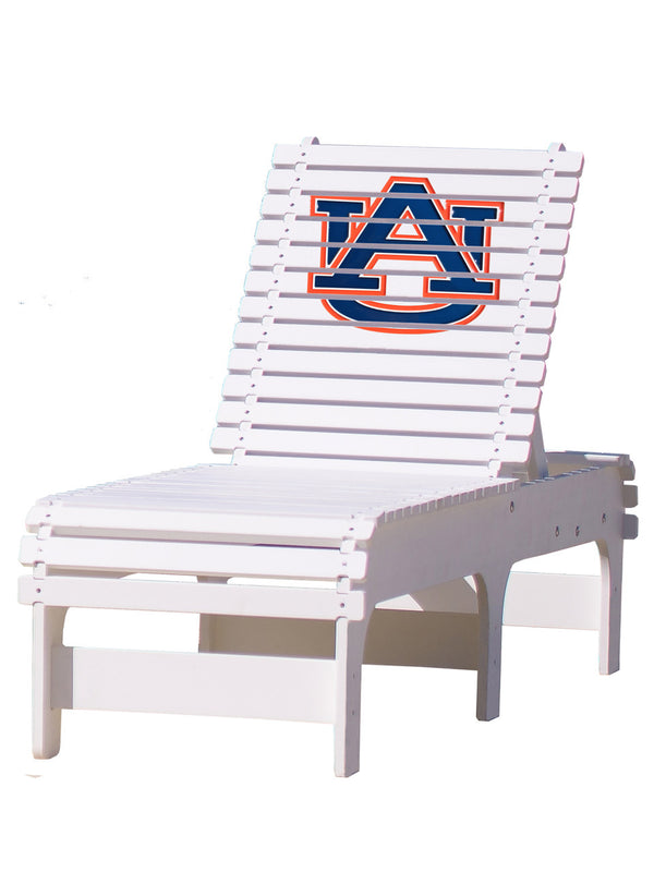 Outdoor Patio Chaise Lounge - Auburn Tigers
