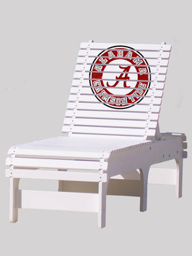 Outdoor Patio Chaise Lounge - University of Alabama Crimson Tide